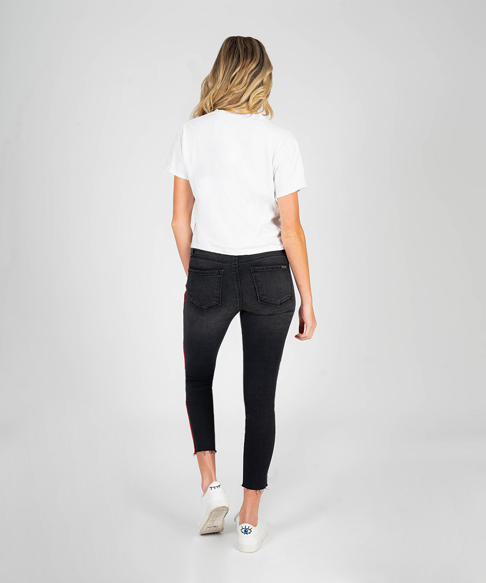 Stella High Rise Slim Fit Crop (Gemini Wash)