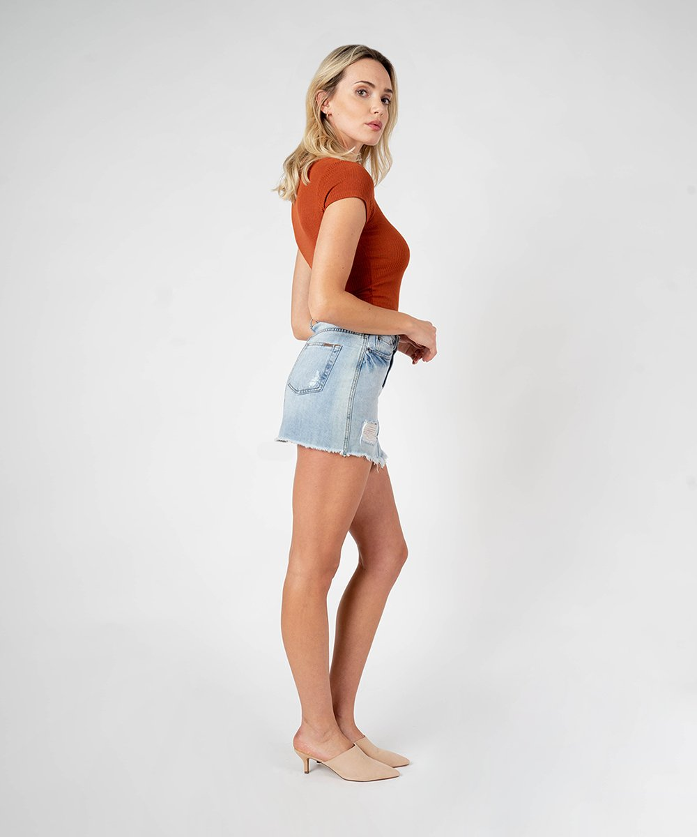 Emily Mini Skirt (Linseed Wash)