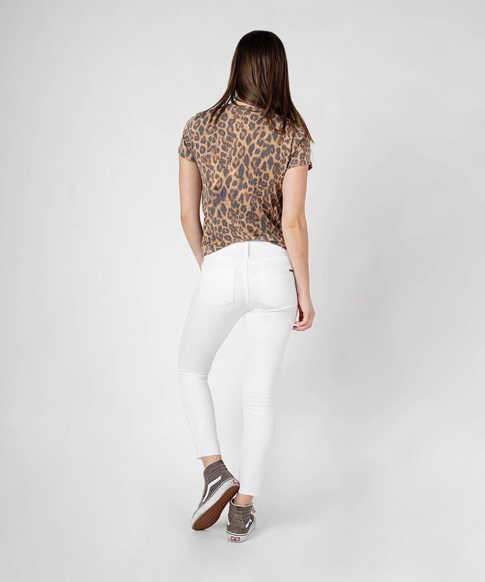 Emma Crop Skinny (White Wash)
