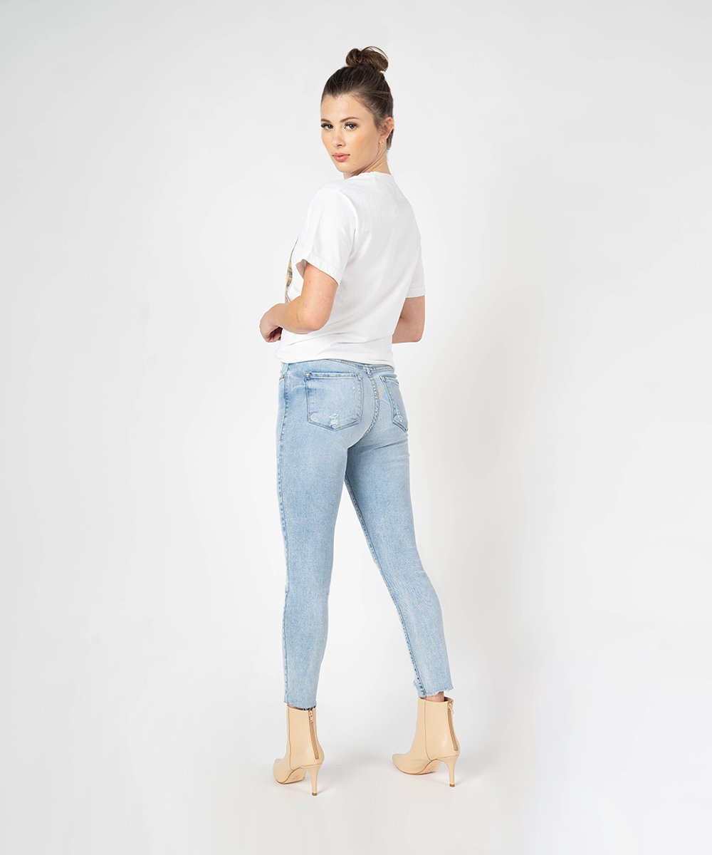 Ellie High Rise Ankle Skinny (Boswood Wash)