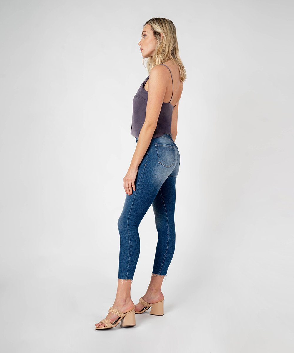 Brie High Rise Ankle Skinny (Carrington Wash)