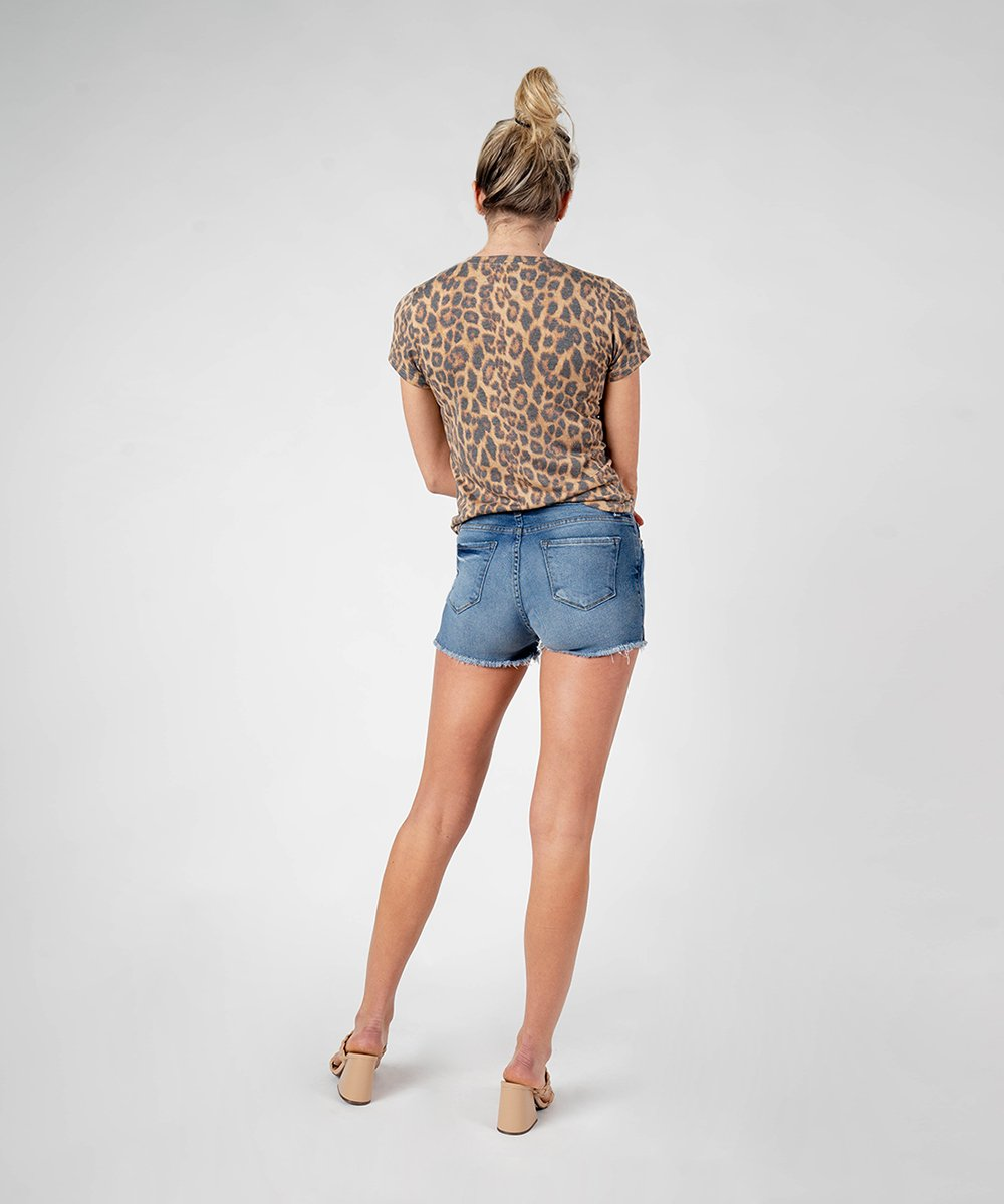 Aubrey High Rise Boyfriend Short (Berkshire Wash)