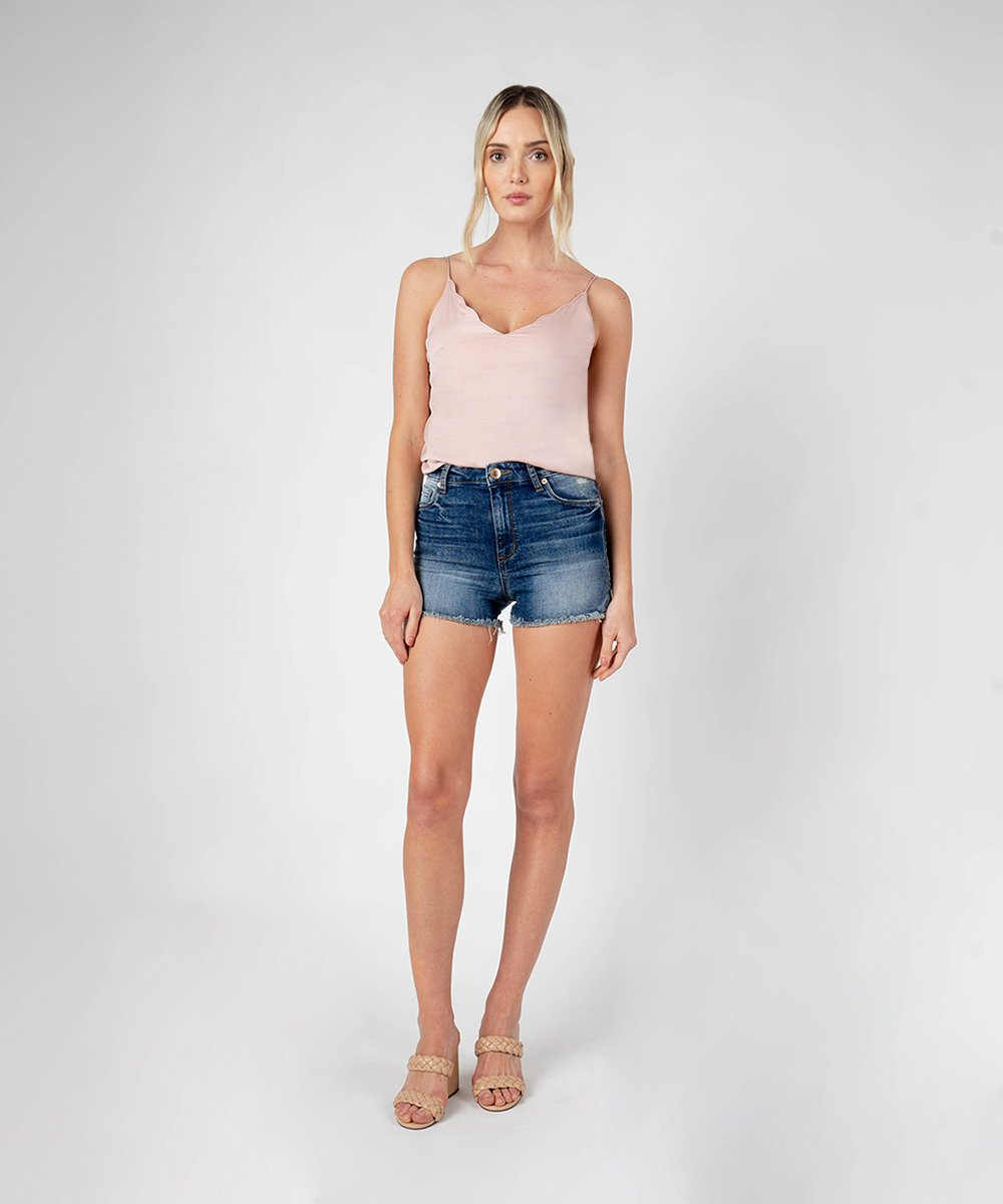 Aubrey High Rise Boyfriend Short (West Reefer Wash)