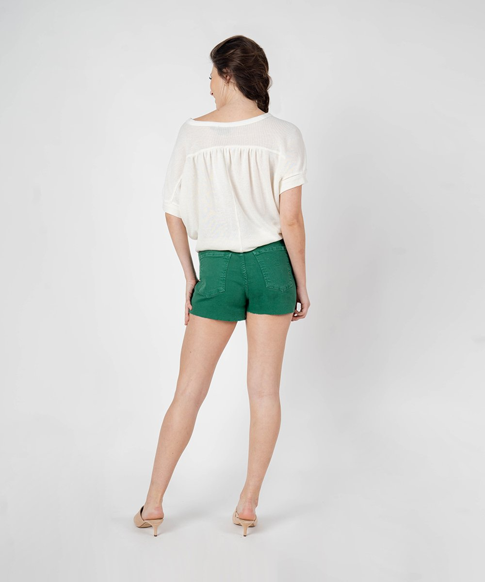 Alicia High Rise Short (Evergreen Wash)
