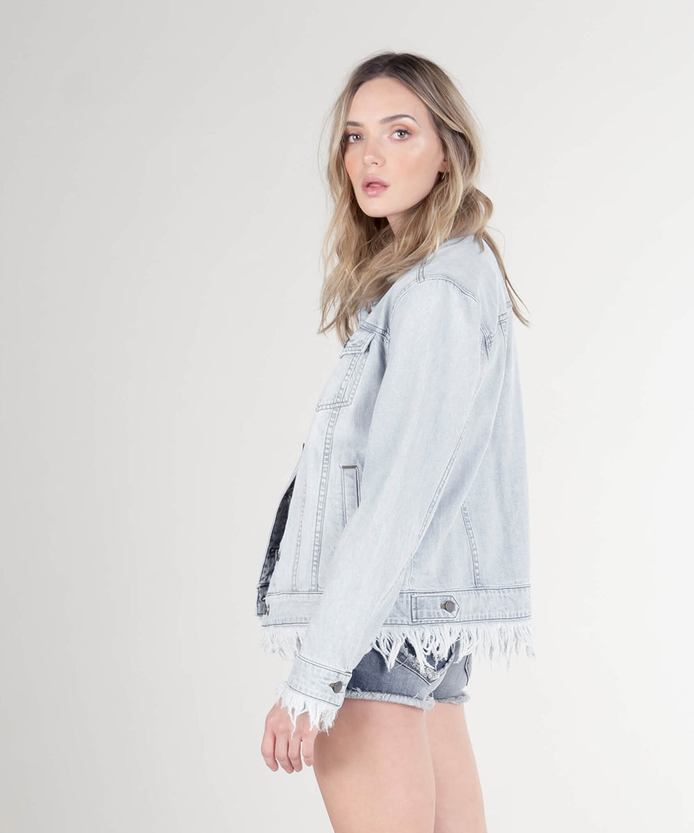 Oversize Denim Boyfriend Jacket (Jenson Wash)