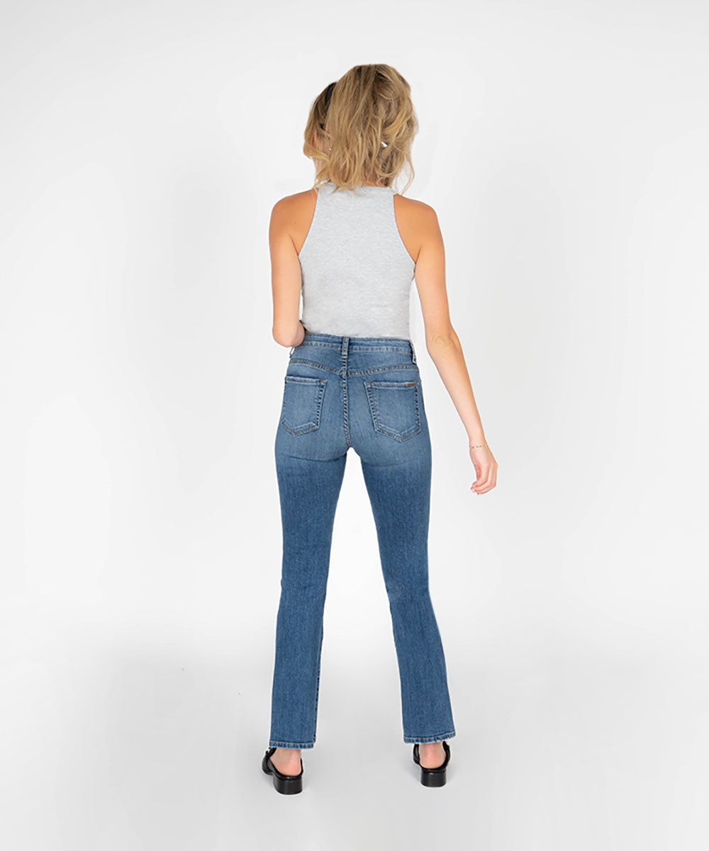 Jennifer High Rise Mini Flare (Agate Wash)