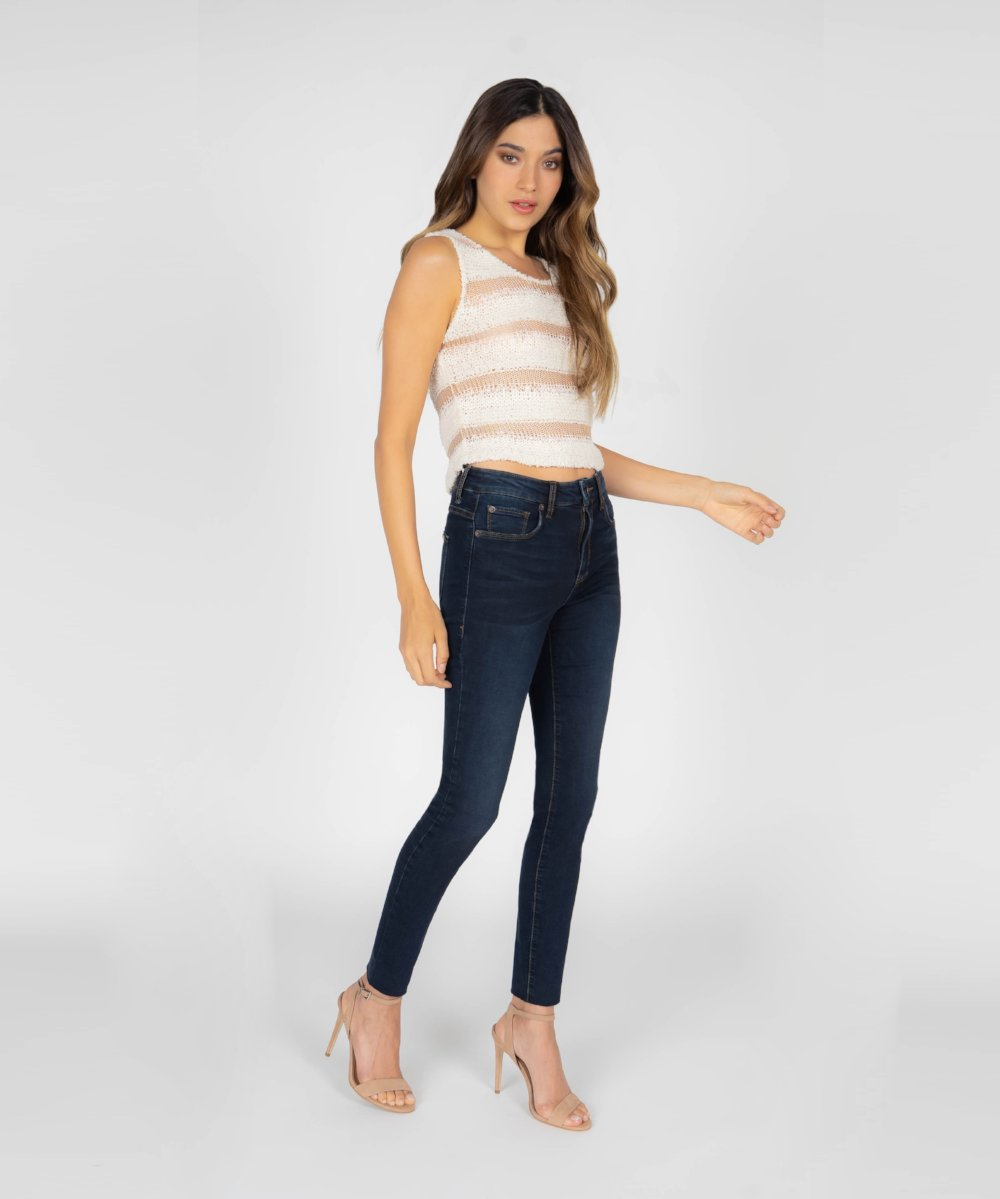 Ellie High Rise Ankle Cut Off Hem (Ranlett Wash)