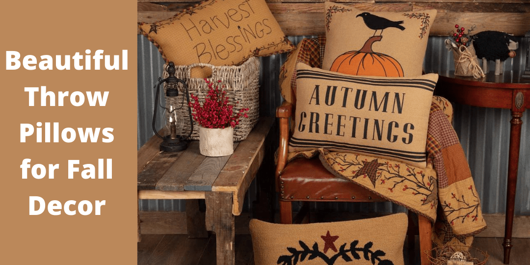Beautiful Throw Pillows for Fall (Autumn) Decor