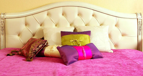 cushion with bed purple