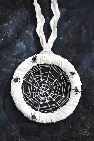 Halloween Decoration With Spiders