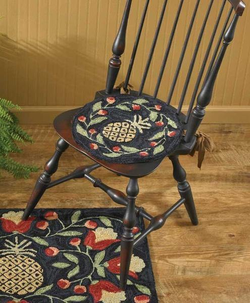 Pineapple Hooked Chair Pad Park Designs