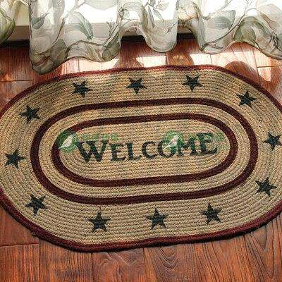 100% Handmade Natural Jute Braided Rug/Mat 20x30