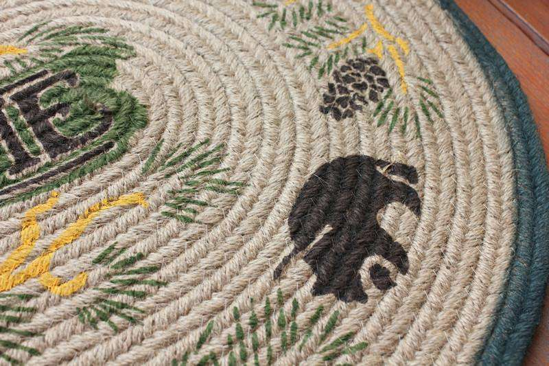 "100% Handmade Natural Jute Braided Rug/Mat 20x30"" rug The Fox Decor"