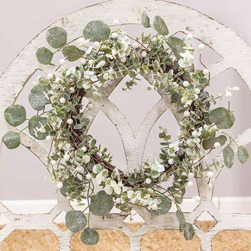 Glitter Frosted Eucalyptus Wreath - The Fox Decor