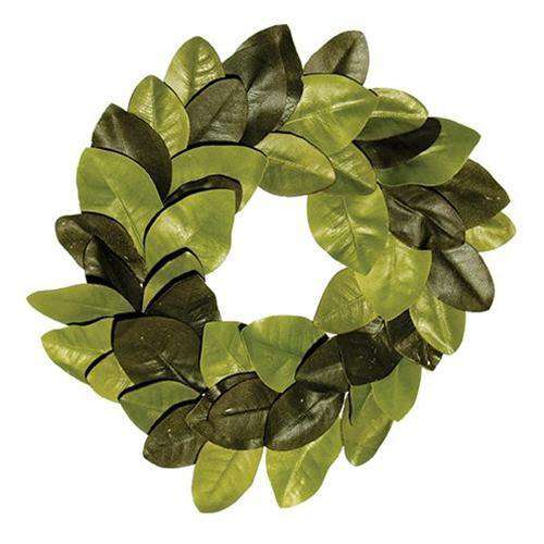 "22"" Elegant Magnolia Leaves Wreath Everyday CWI+"