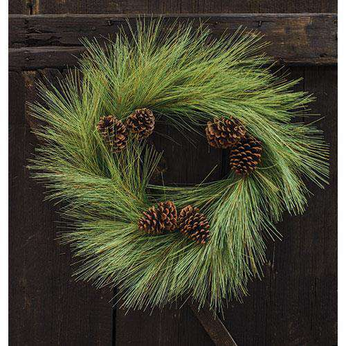 "24"" Woodsy Pine Wreath Pine CWI+"