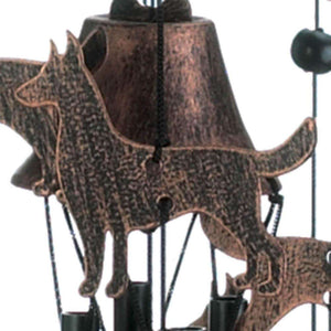 "26"" Bronze Dogs Wind Chimes - The Fox Decor"
