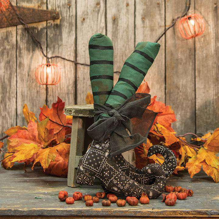 2/Set, Black Bandana Witch Boots Tabletop & Decor CWI+