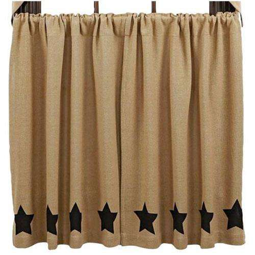 2/Set, Black Star Burlap Tiers, 36