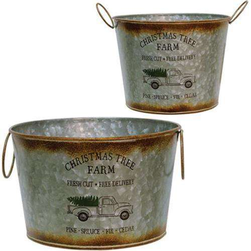 2/Set, Christmas Tree Buckets Buckets & Cans CWI+