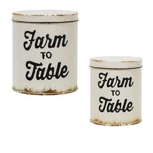 2/Set, Farm to Table Canisters Buckets & Cans CWI+