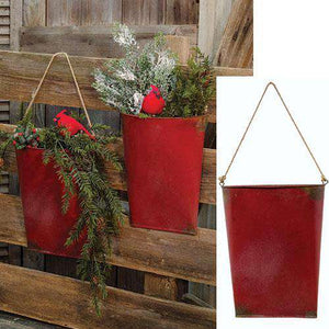 2/Set, Red Hanging Pockets Buckets & Cans CWI+