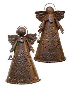 2/Set, Rusty Angel Candle Holders Angels CWI+