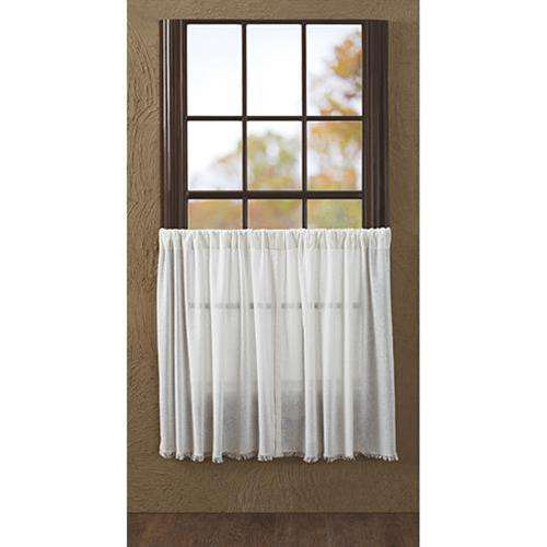 2/Set, Tobacco Cloth Antique White Tiers, 36x36 Curtains CWI+