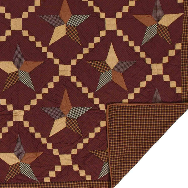 Folkways Star King Quilt 105Wx95L VHC Brands folded