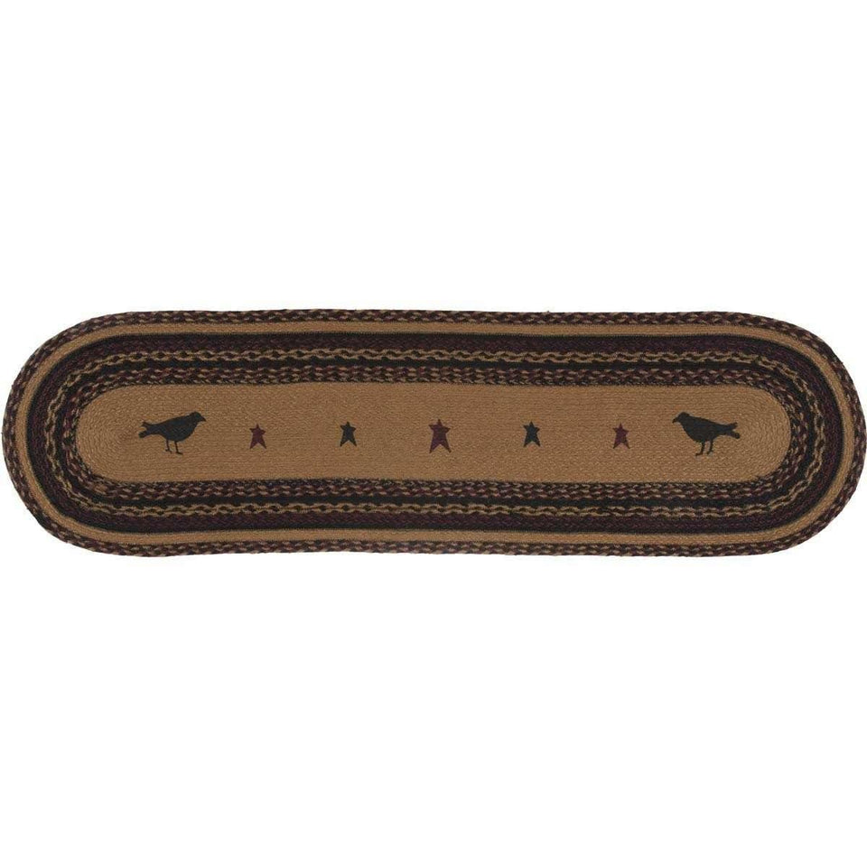 Heritage Farms Crow Jute Runner 13x48 VHC Brands