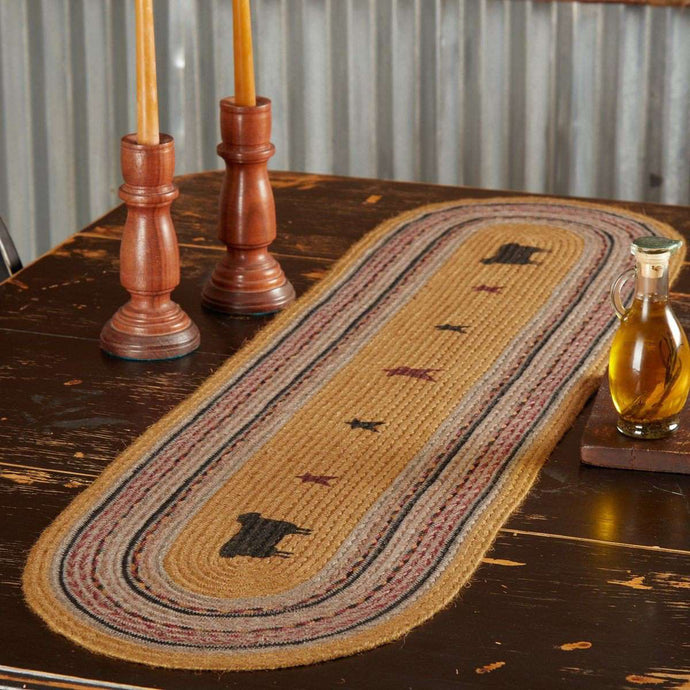 Heritage Farms Sheep Jute Braided Table Runner - The Fox Decor