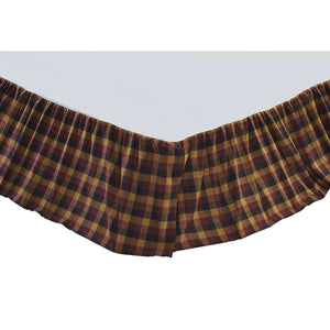 Heritage Farms Primitive Check Bed Skirts VHC Brands - The Fox Decor