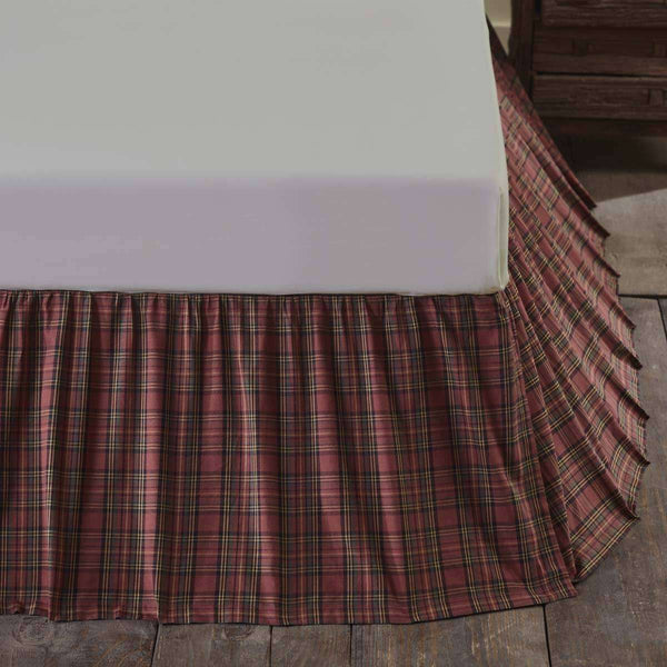 Tartan Red Plaid Bed Skirts VHC Brands - The Fox Decor