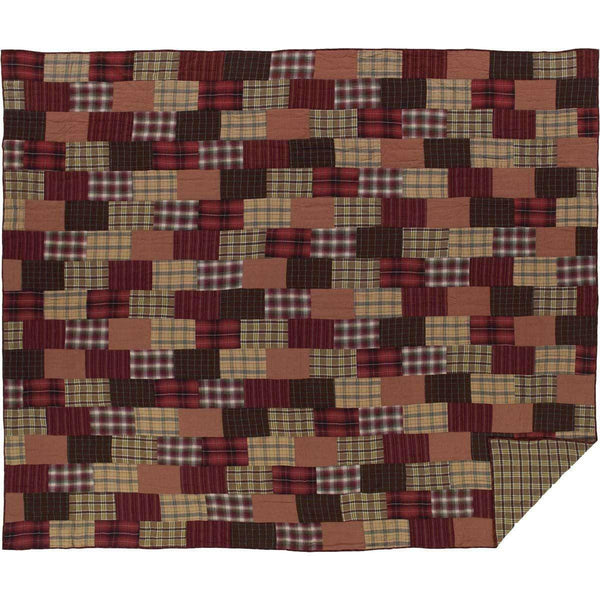 Wyatt California King Quilt 130Wx115L VHC Brands folded