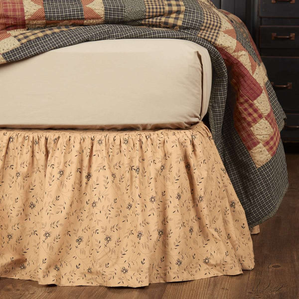 Maisie Bed Skirts Natural, Country Black VHC Brands - The Fox Decor