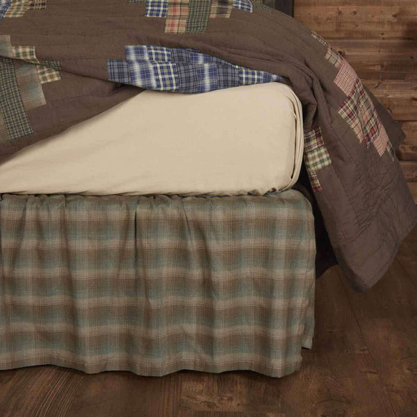 Seneca Bed Skirts Chocolate, Evergreen, Khaki VHC Brands - The Fox Decor