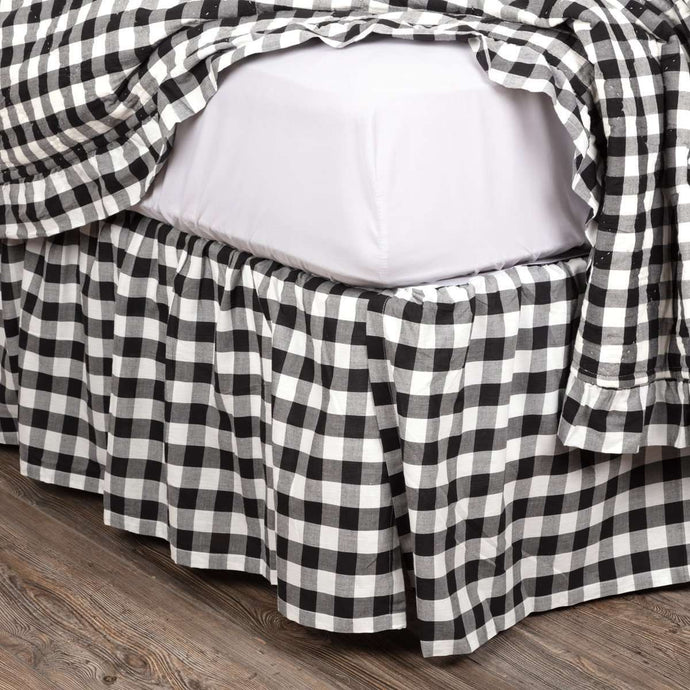 Annie Buffalo Black Check Bed Skirts VHC Brands - The Fox Decor