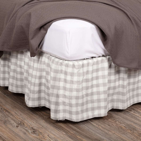 Annie Buffalo Grey Check Bed Skirts VHC Brands - The Fox Decor