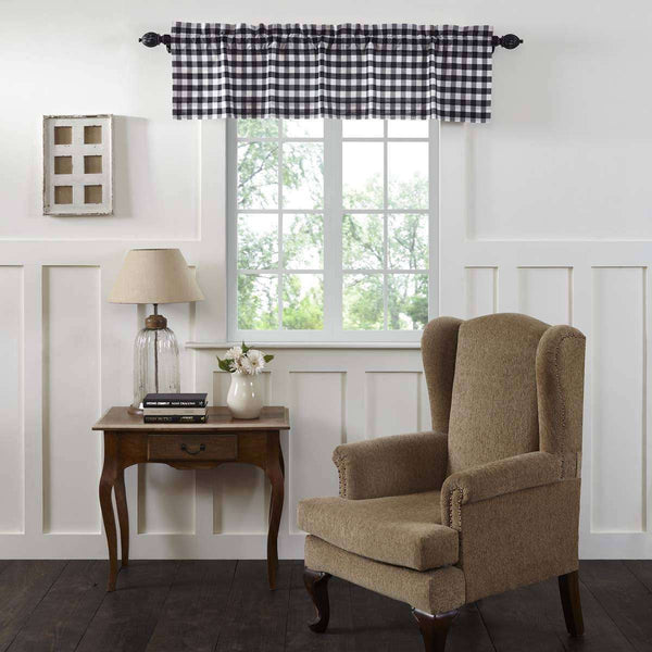 Annie Buffalo Check Valance Curtain Tan zoom
