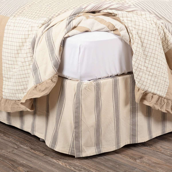 Grace Bed Skirts Creme, Nickel Grey VHC Brands - The Fox Decor