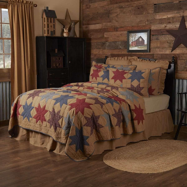Kindred Star King Quilt 105Wx95L VHC Brands