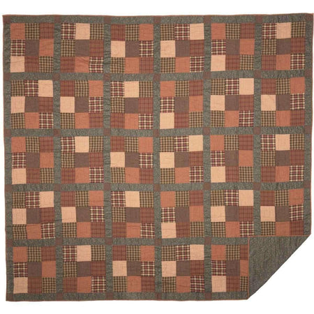 Crosswoods Luxury King Quilt 120Wx105L VHC Brands folded