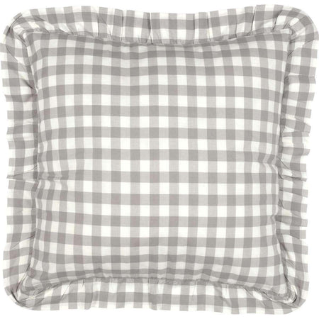 Annie Buffalo Grey Check Fabric Euro Sham 26x26 VHC Brands online