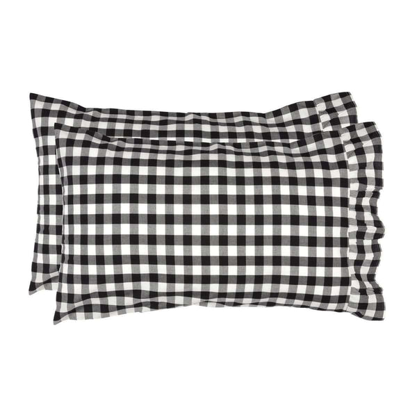 Annie Buffalo Black Check Standard Pillow Case Set of 2 21x30 VHC Brands