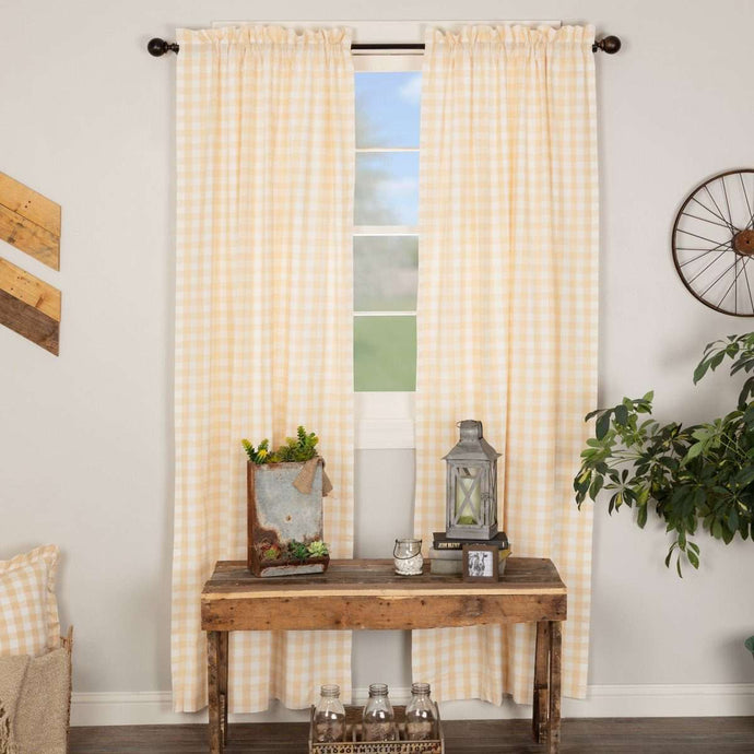 Annie Buffalo Tan Check Panel Curtain Set online