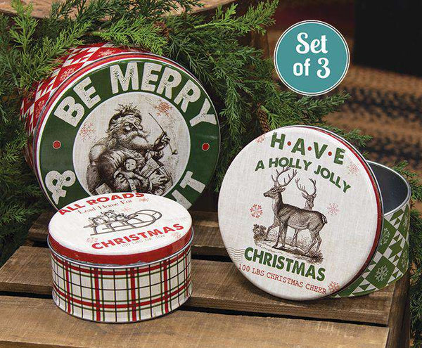 3/Set, Be Merry & Bright Canisters General CWI+