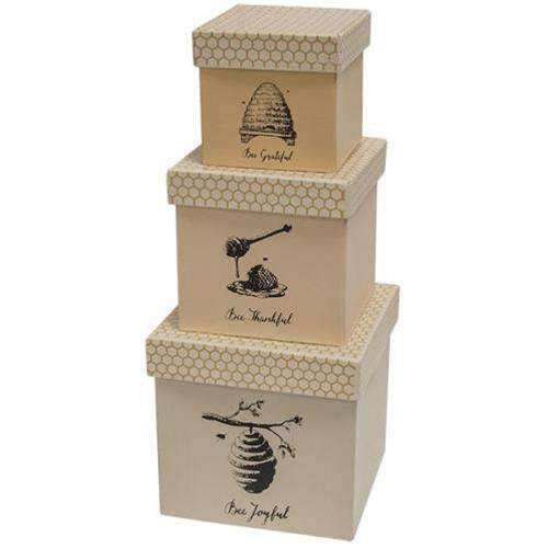 3/Set, Bee Joyful Boxes Containers CWI+