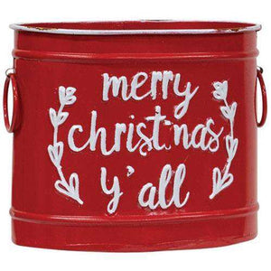 3/Set, Merry Christmas Y'all Buckets Buckets CWI Gifts