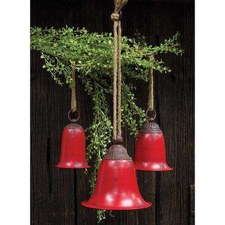3/Set, Red Metal Bells Bells CWI+