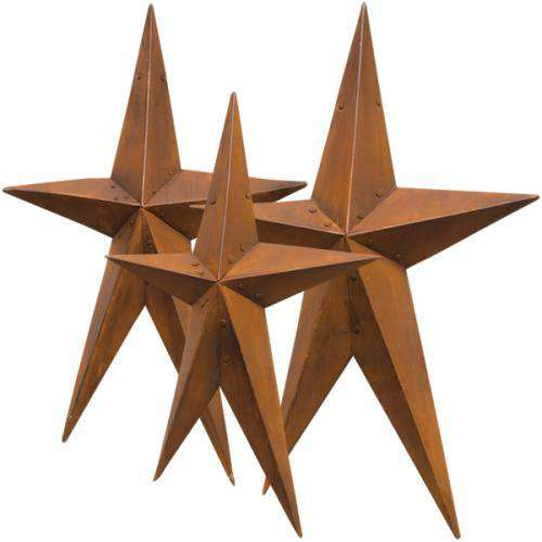 3/Set, Rusty Folk Stars Barn Stars CWI+